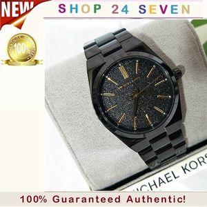 NWT Michael Kors Channing Black Watch MK6625